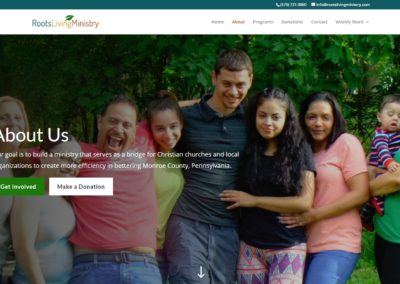 Roots Living Ministry Website Design Search Engine Optimization Online Marketing
